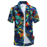Mens Summer Hawaiian Casual Short Sleeve Beach Shirt