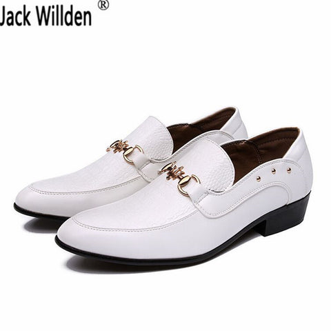 Mens New Fashion Oxford Wedding Dress Casual Black White PU Leather Shoes