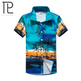 Mens Hawaiian Casual Printed Beach Shirt