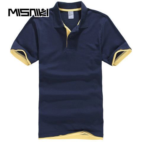 Mens 2018 Summer Polo Shirt Breathable Cotton Casual Short Sleeve