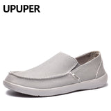 Mens Canvas Breathable Casual Loafers Soft Comfortable Outdoor Flat Lazy Shoes