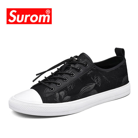 Mens Casual Shoes New Elastic Band Style Fashion Trend Print Sneakers