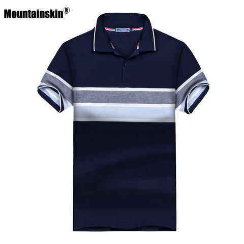 Mens New Summer Polo Shirt Stand Collar Cotton Short Sleeve