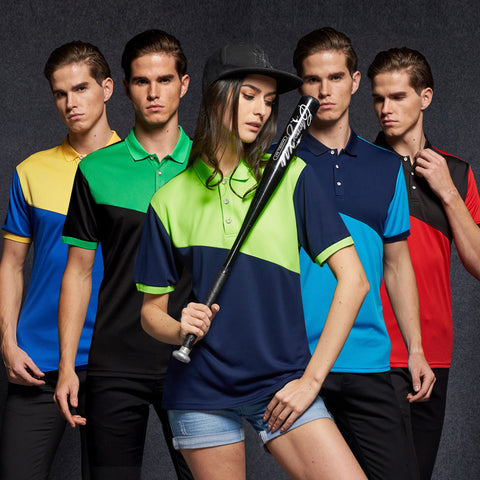 Mens Quick Dry Cool Patch Polo Shirt leisure business polo