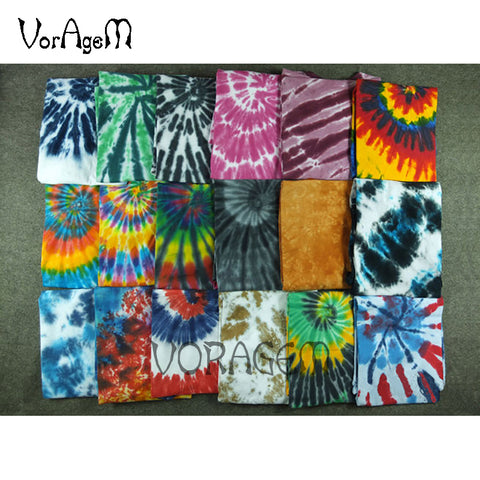 Mens Summer Handmade Tie Dye T Shirt Fashion Spiral Star Ray Colorful Tops Hipster Skateboard 100% Cotton Tee