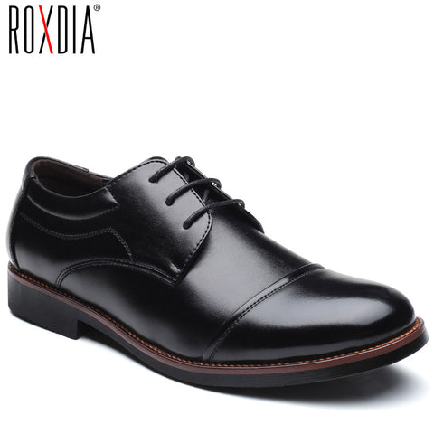 Mens dress formal business work soft patent leather pointed toe oxfords