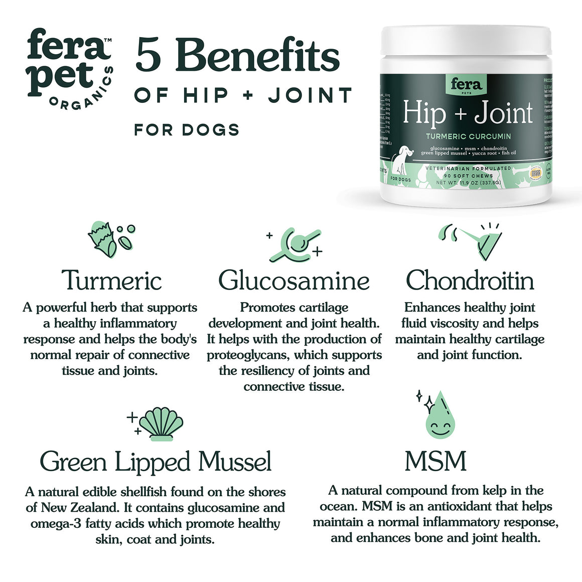 Hip + Joint Support for Dogs
