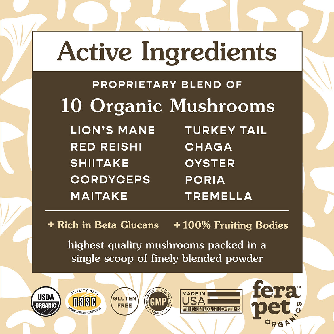 USDA Organic Mushroom Blend for Immune Support