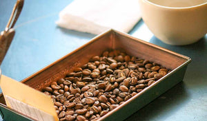 Fresh-roasted, organic, fair trade coffee.