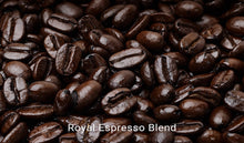 Load image into Gallery viewer, Organic, fair trade coffee, Royal Espresso Blend. Order online!