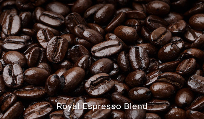 Organic, fair trade coffee, Royal Espresso Blend. Order online!