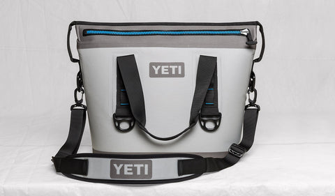 YETI Hopper Two 20 Cooler - Fog Gray-Tahoe Blue