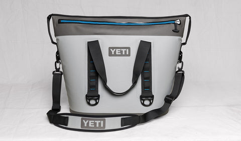 YETI Hopper Two 40 Cooler - Fog Gray-Tahoe Blue