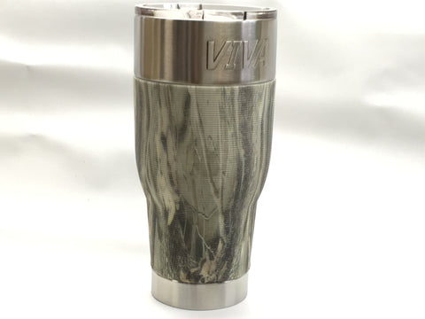 VIVA Tumbler 30 oz-best functionality with Light Camo sleeves.
