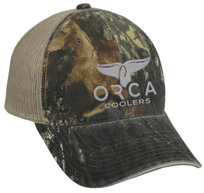 ORCA Hat Low Profile Trucker Mossy Oak