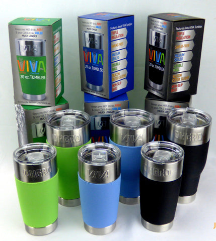 VIVA Tumbler 30 oz with colorful sleeves