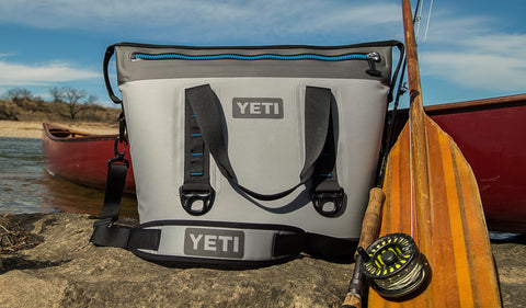 YETI Hopper Two 30 Cooler - Fog Gray-Tahoe Blue