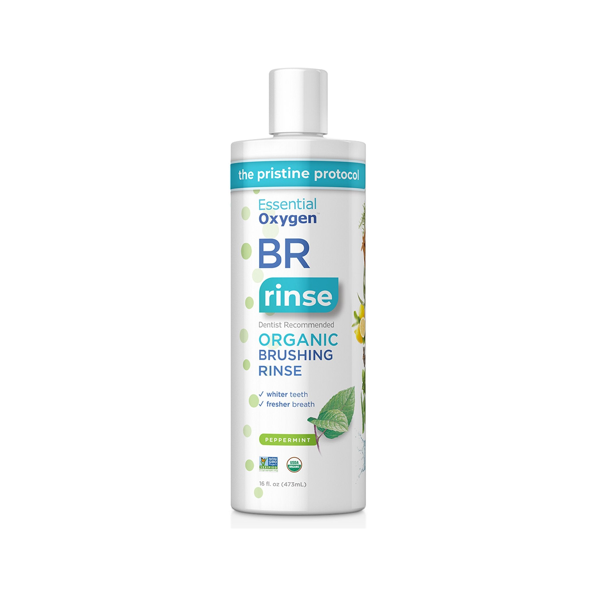 Essential Oxygen Organic Brushing Rinse 16 Ounce