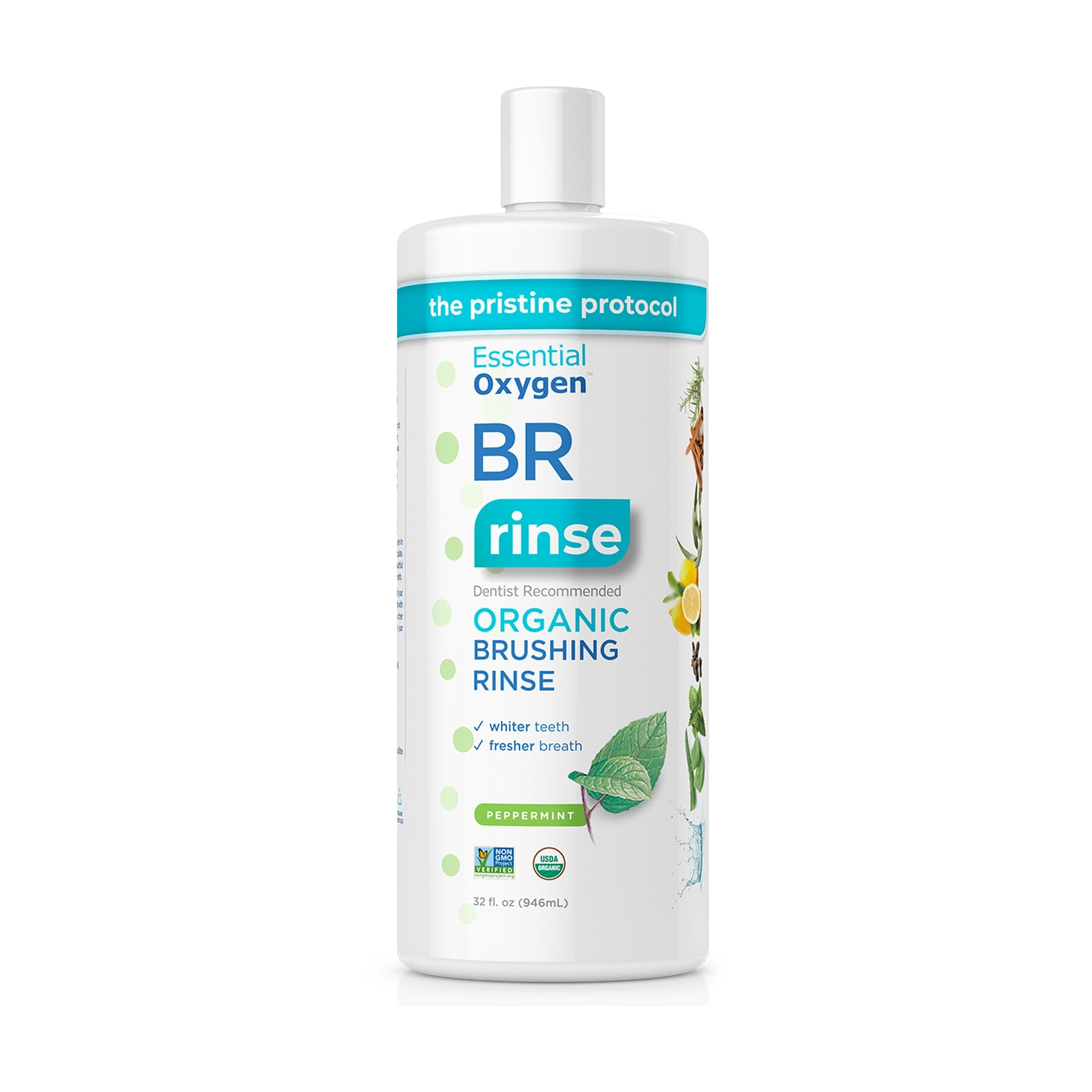 Essential Oxygen Organic Brushing Rinse 32 Ounce