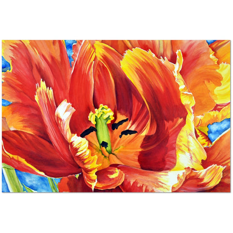 Wall Art Print on Canvas-Tulip Giant, Premium Canvas Gallery Wrap - Laurie Humble.com