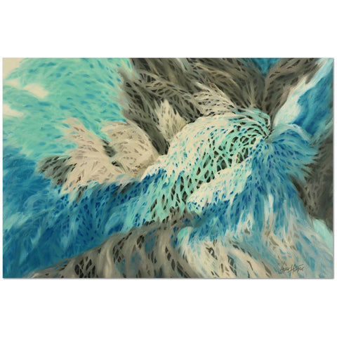 Wall Art Print on Canvas-Contemporary Abstract Birds 2, Premium Canvas Gallery Wrap - Laurie Humble.com