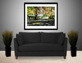 Wall Art Print on Canvas-Shadowed Lane, Premium Canvas Gallery Wrap - Laurie Humble.com
