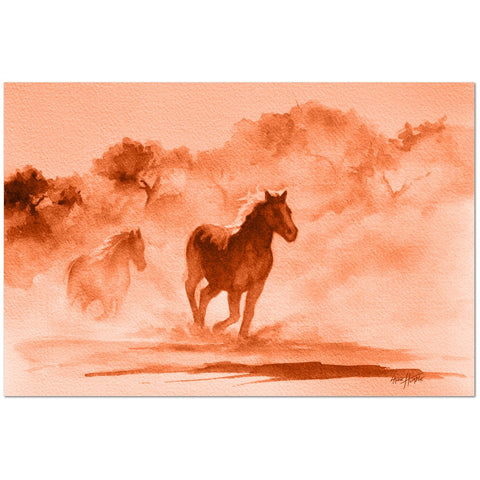 Wall Art Print on Canvas-Wild Horses, Premium Canvas Gallery Wrap - Laurie Humble.com