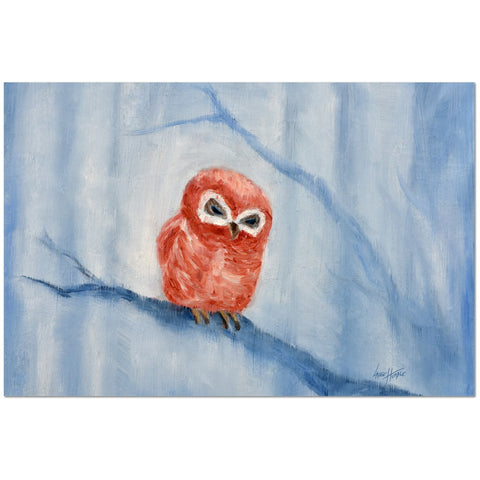 Wall Art Print on Canvas-Weary Owlette, Premium Canvas Gallery Wrap - Laurie Humble.com