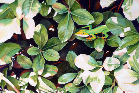 Can You See Me Now?-Original Watercolor - Laurie Humble.com