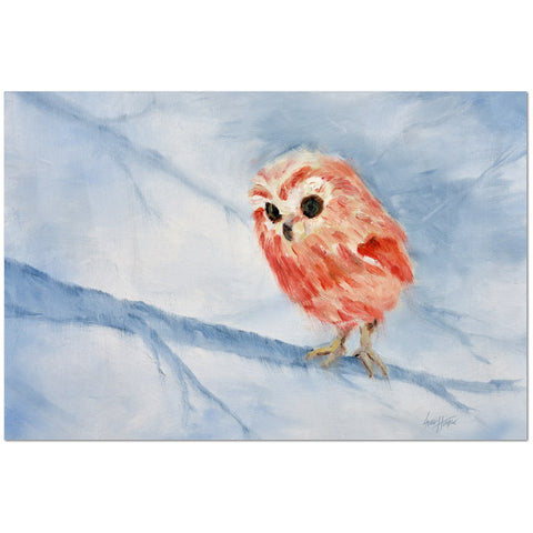 Wall Art Print on Canvas -Alert Owlette, Premium Canvas Gallery Wrap - Laurie Humble.com