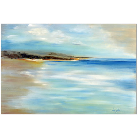 Wall Art Print on Canvas-Abstract Beach, Black Frame - Laurie Humble.com