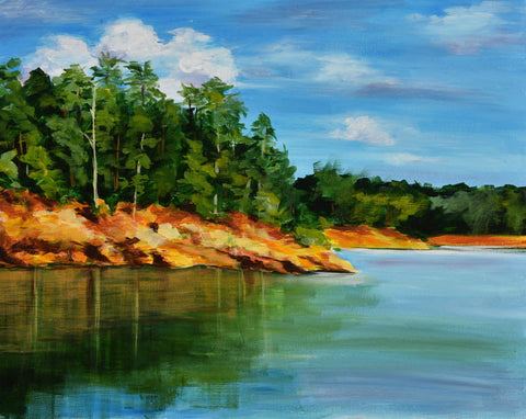 Acrylic Painting-Original-Lakeside, Original Acrylics - Laurie Humble.com