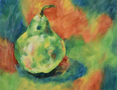 Oil Painting-Original-Lone Pear, Original Oil Painting - Laurie Humble.com