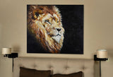 Wall Art Print on Canvas-The Noble Lion
