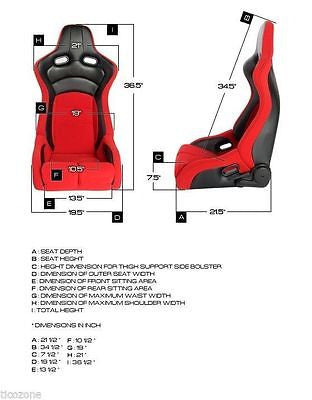 Cipher Viper Racing Seats Black Cloth Black Carbon PU w/ Red Stitching - Pair