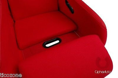 Racing Seats Red Fabric with Suede Insert Cipher Auto FRP Bucket Seat-Single NEW