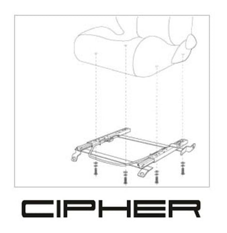Cipher Auto Fiat 124 Spider Seat Bracket - Both Sides