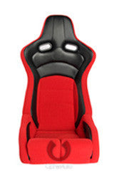 CIPHER VIPER RACING SEATS RED CLOTH W/ BLACK CARBON PU - PAIR