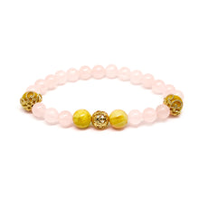 Load image into Gallery viewer, CatstoneNYC November Birthstone Rose Quartz Bracelet for Women - Catstone NYC