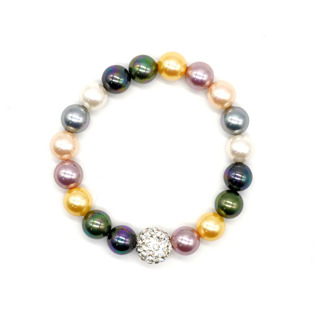 CatstoneNYC Color Gemstone Bead  Stretch Bracelet