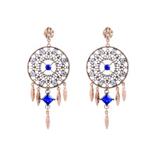 Load image into Gallery viewer, CatstoneNYC Gold Dangle Dream Catcher Earrings - Catstone NYC