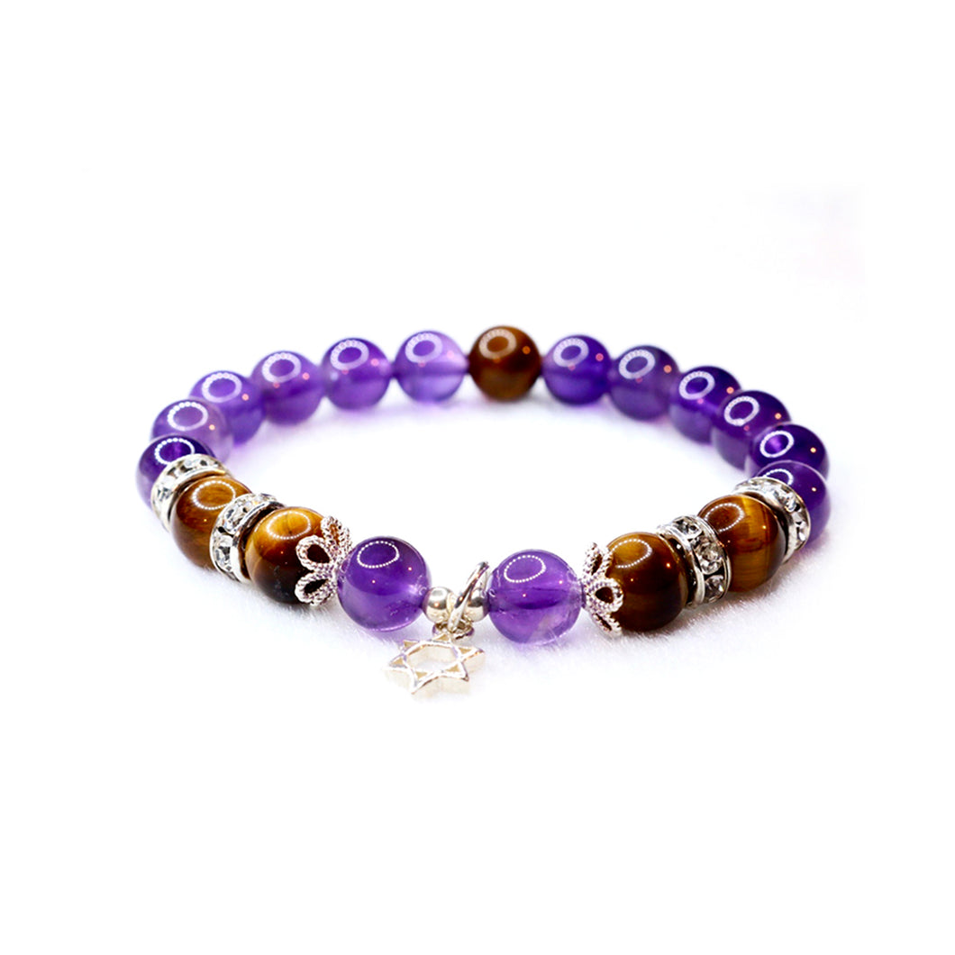 CatstoneNYC February Birthstone Amethyst Bracelet for Women - Catstone NYC