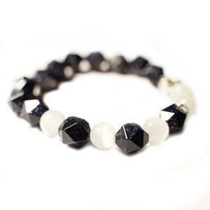 CatstoneNYC Galaxy Collection Black Sandstone and Opal Crystal Gemstone - Catstone NYC