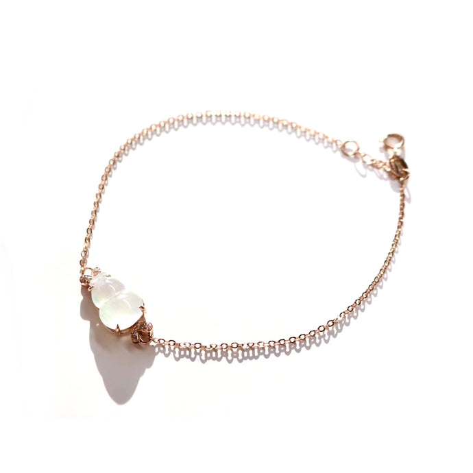 Customized - Moonstone 18k Gold Bracelet - Catstone NYC