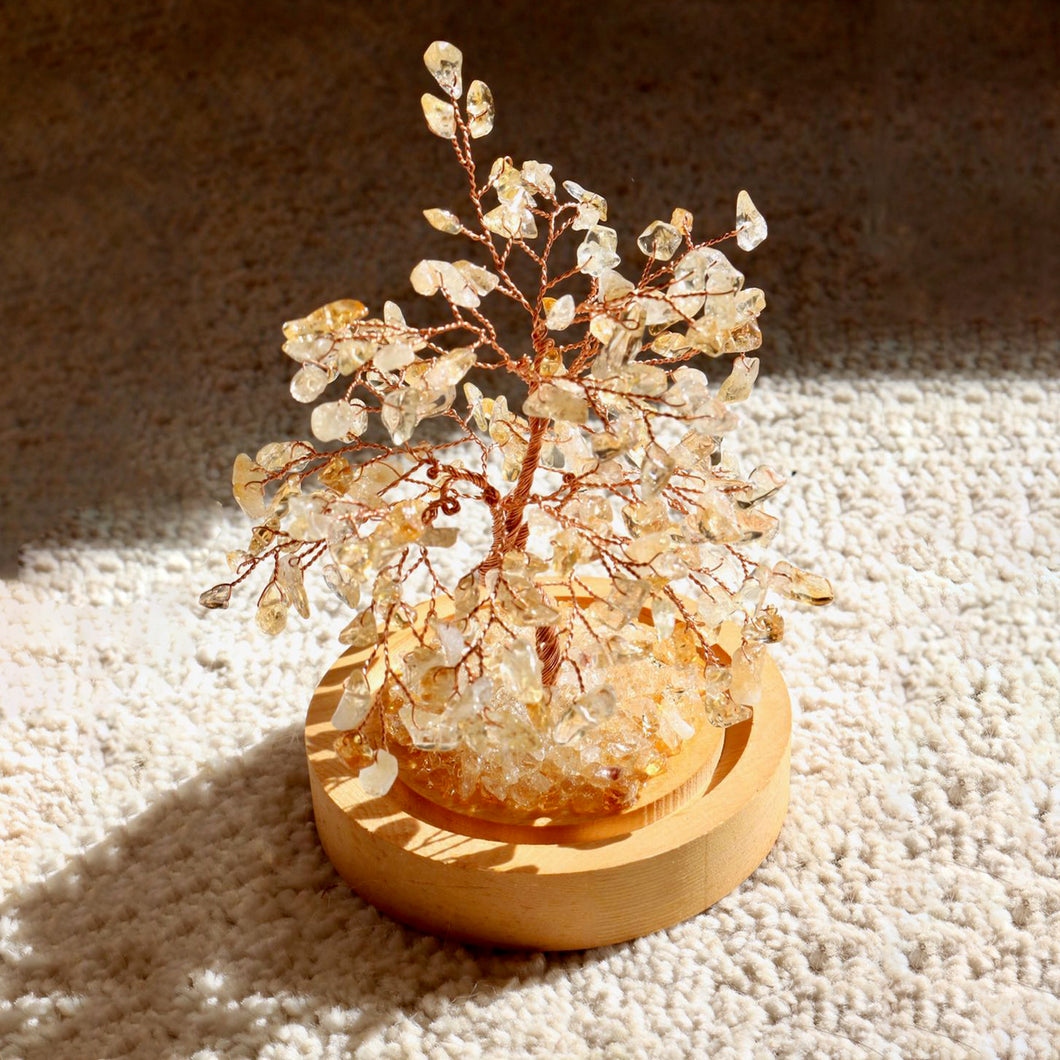 Citrine Bonsai Tree with Natural Crystals - Catstone NYC