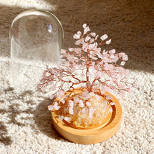 Load image into Gallery viewer, Rose Quart Bonsai Tree with Natural Crystals - Catstone NYC