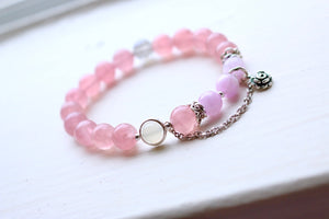 CatstoneNYC Customized Gemstone - Rose Quartz Crystal Beads Bracelet - Catstone NYC