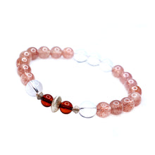 Load image into Gallery viewer, CatstoneNYC July Birthstone Strawberry Quartz Bracelet for Women - Catstone NYC