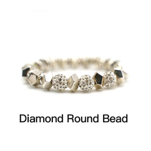Load image into Gallery viewer, CatstoneNYC Shining Crystal Round Bead Stainless Steel Bracelet - Catstone NYC