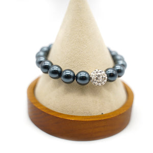 CatstoneNYC Midnight Gemstone Round Beads Stretch Bracelet - Catstone NYC